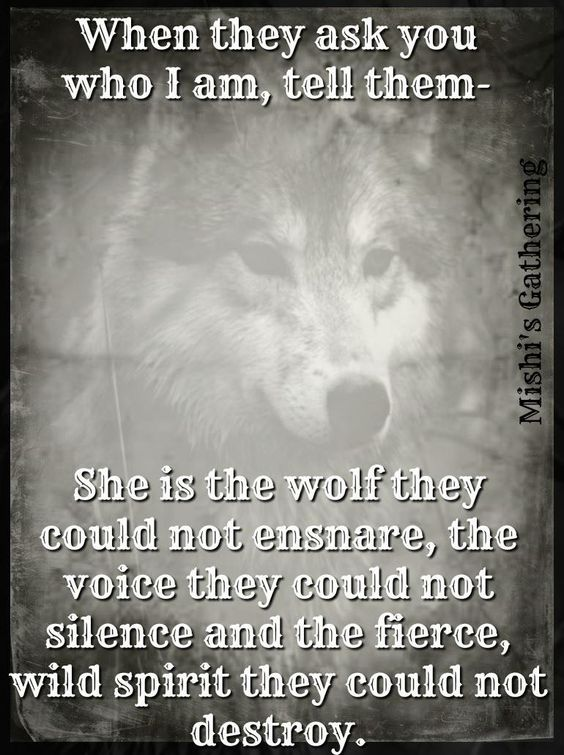 she is the wolf designwolf